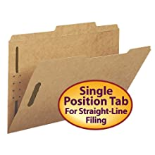 Smead Fastener Folder 2/5 Cut Right of Center Tab Kraft 2K Style Fasteners in Positions 1 and 3, Legal Size (19882)