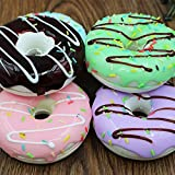 Syorn 6 pcs BREADOU JUMBO TURTLE Squishy Charms wrist pad Soft DONUT Squishy toy Photography Props