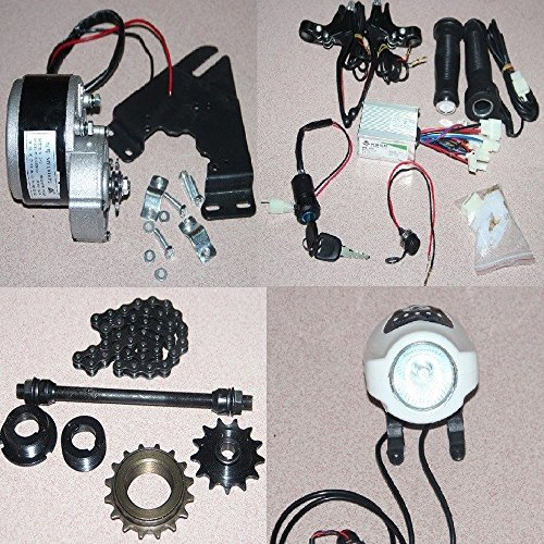 Kize 24V 250W Electric Bicycle Accessories Kits Geared Brush Motor E-Bike  Cycling Conversion Kits