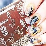Crane Camel Animal Pattern Nail Art Stamp Template Image Plate QA-Y029 # 22256