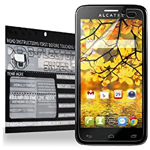 D-Flectorshield SLIM CASE COMPATIBLE Scratch Resistant ALCATEL ONE TOUCH FIERCE Screen Protector - Free Replacement Program (Not Compatible With OTTERBOX-style cases)