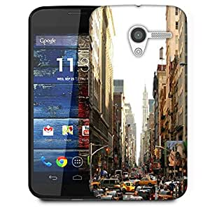 Snoogg Y City Designer Protective Phone Back Case Cover For Moto X / Motorola X