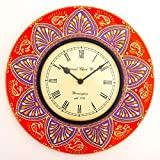Purpledip Red Wall Clock (12x12inch)
