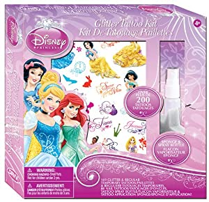 Savvi Girls Disney Princess Tattoos Kit - 200 Pieces