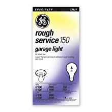 GE Lighting 72532 150-Watt A21 Rough Service Garage Lighting Bulb, 1-Pack