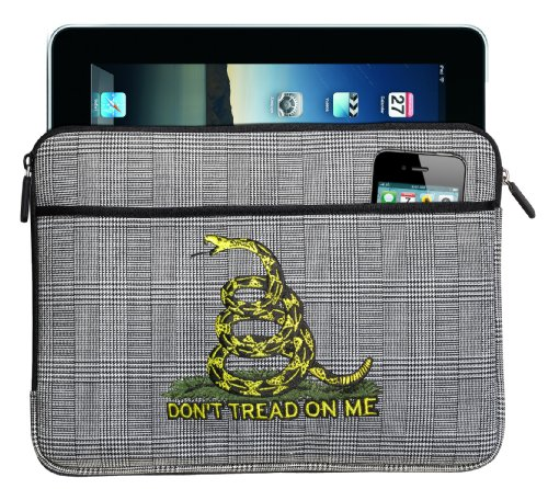 Don'T Tread On Me Ipad Sleeve Case Tea Party Flag Best For Ipads, E-Readers Tablets