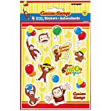 Curious George Stickers(4 Sheets Of 18 Stickers Each)