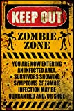 Poster Service Zombie Keep Out Poster, 24-Inch by 36-Inch