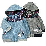 【アウトレット】La Chiave 2WAYブルゾン (80~130cm) キムラタンの子供服 チャコール 80 ( 53362x53562-154 )