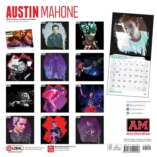 Austin Mahone 18-Month 2015 Calendar