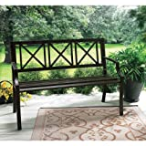 Lawn &amp; Patio - Living Accents Lexington Steel Park Bench