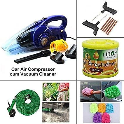 AutoSun-Car-Air-Compressor-cum-Vacuum-Cleaner-+-4-Car-Care-Accessories