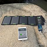 ALLPOWERS™ 16W Solar Panel Charger with Fast Charging Technology External Power Pack 2A Dual USB Portable Charger Backup for Iphone 6 Plus 5s 5c 5 4s 4, Ipad Air Mini, Samsung Galaxy S5 S4 S3, Note 4 3, HTC One M8, Nexus 5, Blackberry, GPS Units, Digital