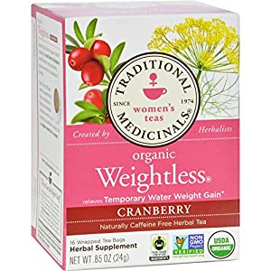 Traditional Medicinals Organic Weightless Cranberry Herbal Tea - Caffeine Free - 16 Bags