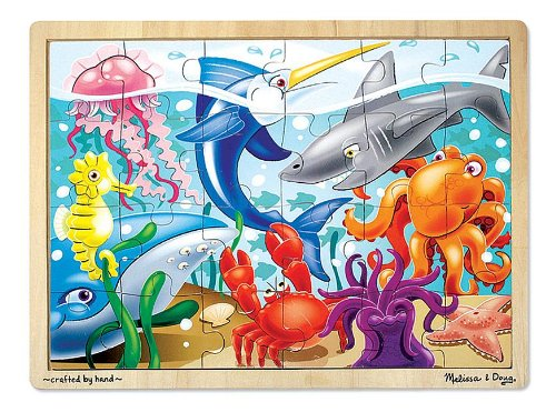 Melissa & Doug Under the Sea Jigsaw Puzzle 24pc - 1
