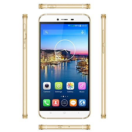 High-Tech Place Cubot X10 Smartphone - Android 4.4, 5.5 Inch IPS OGS Display, MTK6592 Octa Core CPU, 2GB RAM, Dual SIM, Smart Wake (Golden)