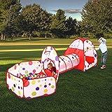 MAIKEHIGH interior / exterior t�nel del juego y la tienda del juego de Cubby de Tubo Tipi 3 en 1 zona de juegos infantil para beb�s Juguetes para ni�os BOLAS NO INCLUIDO