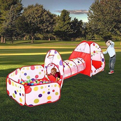 MAIKEHIGH Indoor / Outdoor Tunnel gioco e Play Tent Cubby-Tube-tenda canadese 3 in 1 parco giochi per bambini capretti del bambino Giocattoli SFERE NON INCLUSA