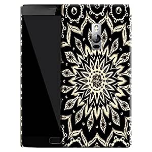 Theskinmantra Black Chand back cover for Oneplus 2