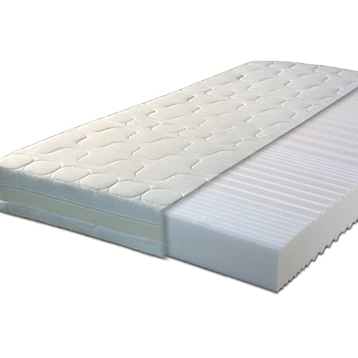 Gigapur 24321 G18 Matratze | 7-Zonen Kaltschaummatratze H2 | Premium Schaumstoff-Matratze mit Klimaband | 180 x 200 cm