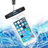 [2016 New Release] IPX8 Waterproof Case, Mpow® Universal Durable Underwater Dry Bag, Touch Responsive Transparent Windows,Watertight Sealed System for iPhone 6s, 6s plus, 6, 6 plus, 5, 5s, 4, Samsung Galaxy S6 and S6 Edge S5 S4, Samsung Note 3,2 and Other Smartphone; Waterproof Bag for Boating/Hiking/Swimming/Diving