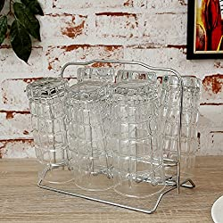Pebbleyard Stainless Steel Glass Stand, Standard, 1-Piece, Multi