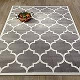 Ottomanson Paterson Collection Grey Contemporary Moroccan Trellis Design...