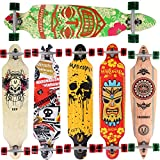 [Maronad.GCP]® Longboard Skateboard drop through Race Cruiser ABEC-11 Skateboard 104x24cm Streetsurfer skaten ARUBA