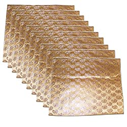 Golden colour flip design Saree Sari Cover Bag for 1 Saree PACK OF 10