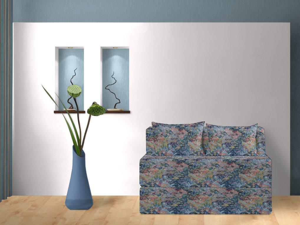 Schlafsofa, Aquarell, blau, 120 cm online bestellen