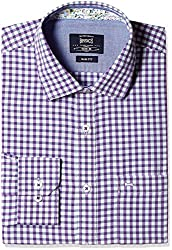 Basics Men's Formal Shirt (8907054419043_14BSH31769_XL_Purple)
