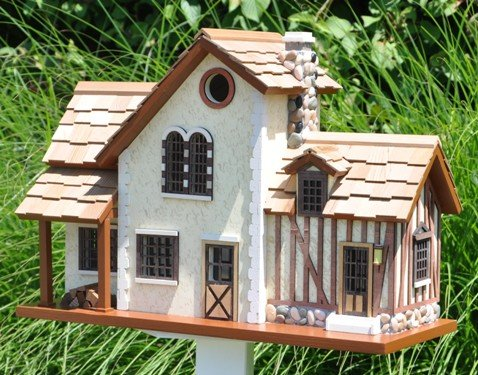 "18.25"" Fully Functional French Country 2-Story Home Birdhouse"