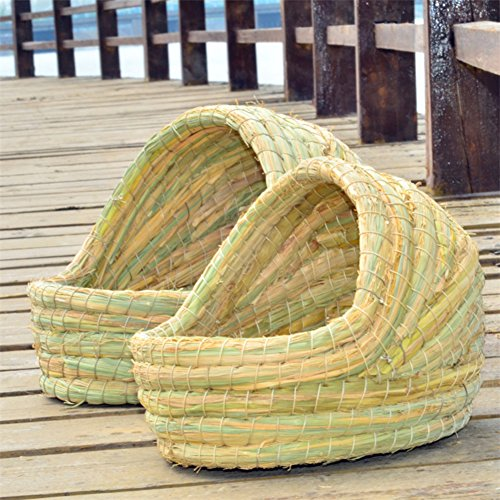 JTENGYAO-Woven-Grass-Hideaway-Hut-House-Pet-Bedding-for-Rabbits-Guinea-Pigs-and-Small-Animals