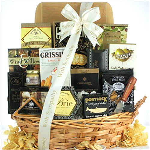 GreatArrivals Gift Baskets In Kindness & Sympathy: Sympathy Cheese & Snack Gift Basket, 4 Pound