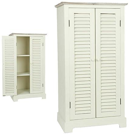 5H0091 Clayre & Eef - Armadio di legno - Bianco ca. 53 x 35 x 100 cm
