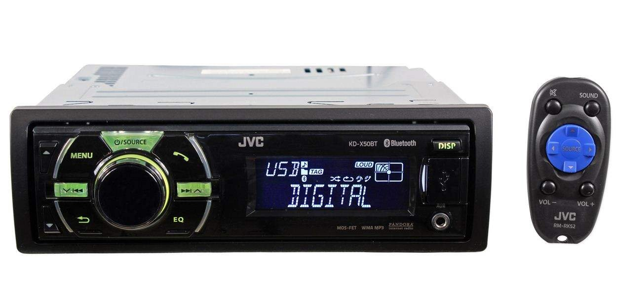 JVC Bluetooth In-Dash Digital Media Receiver with Dual USB Ports
