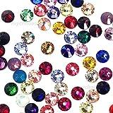 144 Swarovski 2028 / 2058 20ss crystal flatback rhinestones ss20 mix colors (Color: Mixed Colors)