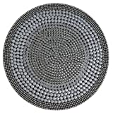 Shiraleah Cairo Round Placemat Silver