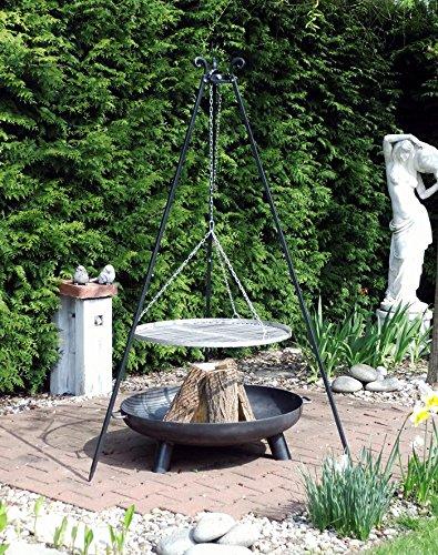 Komplettset! Feuerschale Feuergrill – 80cm und Schwenkgrill aus Edelstahl günstig kaufen