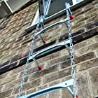Saf-Escape - 2 Story 15 foot Portable Fire Escape Ladder 10 Thick Wall - Tangle Free Steel Chain - model # 1015