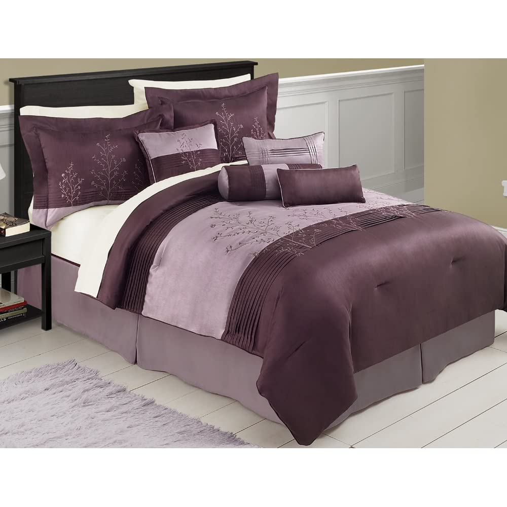 Best buy victoria classics mia 8 piece queen comforter set for Bedding sets queen
