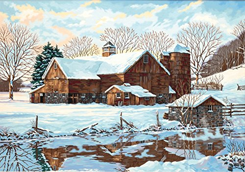 Dimensions Needlecrafts Paintworks Paint By Number, Winter Reflections (Farm Paint By Number compare prices)