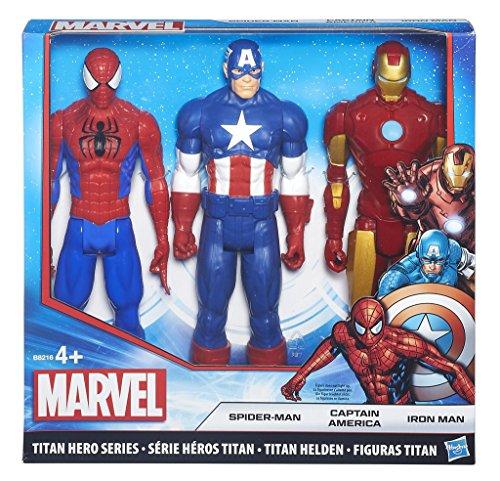 Avengers - Figurina Avengers, Titan Hero Series 3 Pack