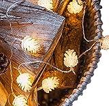 【19blue】ledライトガーランド松ぼっくりイルミネーション電飾電池式(2m)