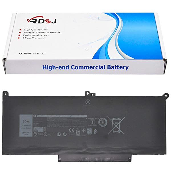 F3YGT Laptop Battery for Dell Latitude 12 7000 7280 7480 Series DM3WC 0DM3WC 2X39G 7.6V 60Wh