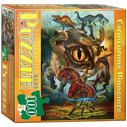 EuroGraphics 6100-0359 Carnivorous Dinosaurs 100-Piece Puzzle
