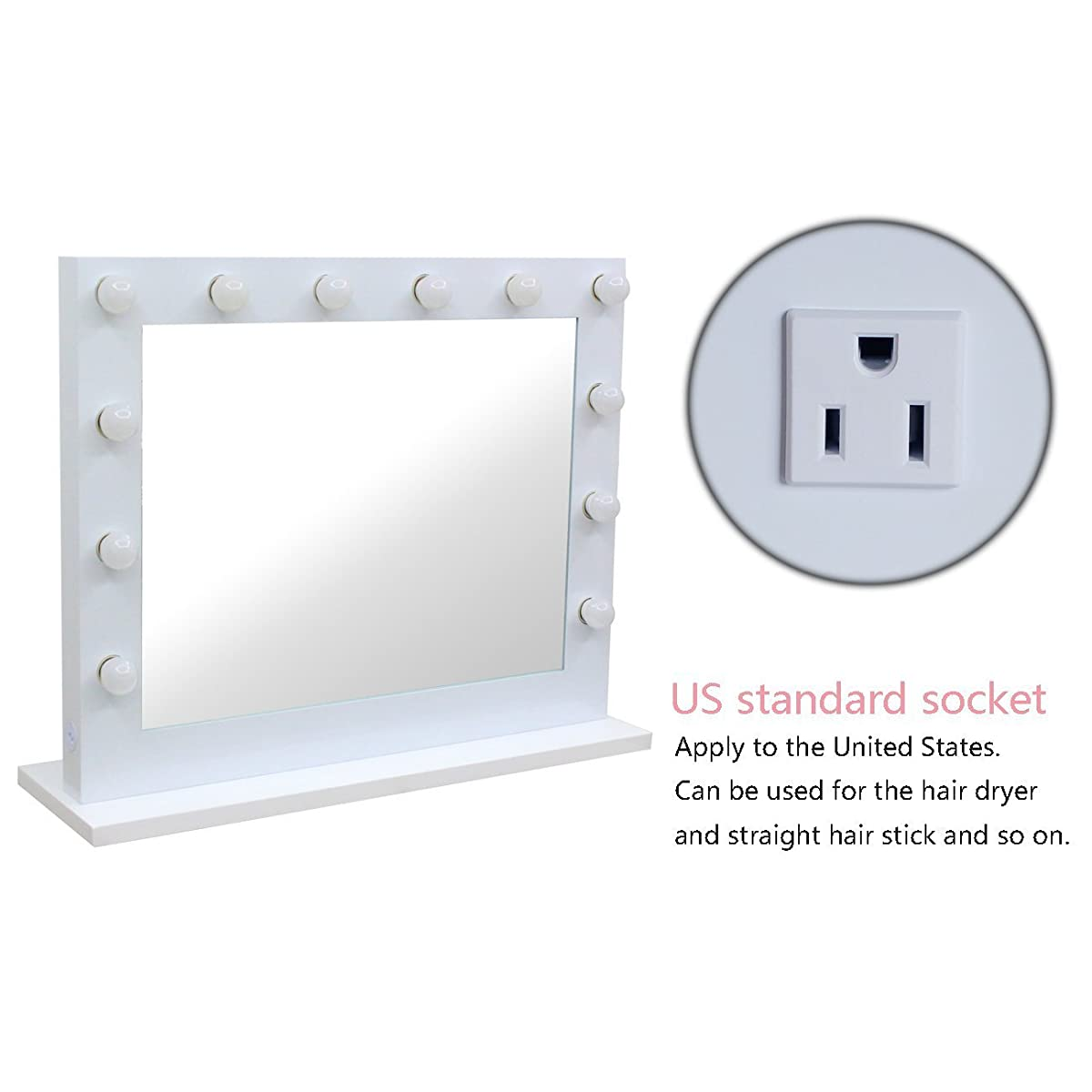 Chende white hollywood lighted makeup vanity mirror light makeup chende white hollywood lighted makeup vanity mirror light makeup dressing table vanity set mirrors with dimmer geotapseo Image collections