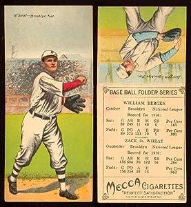 Buy 1911 T201 Mecca Double Folders (Baseball) Card# 7 William Bergen Zack Wheat of the Brooklyn Dodger... by T201 Mecca