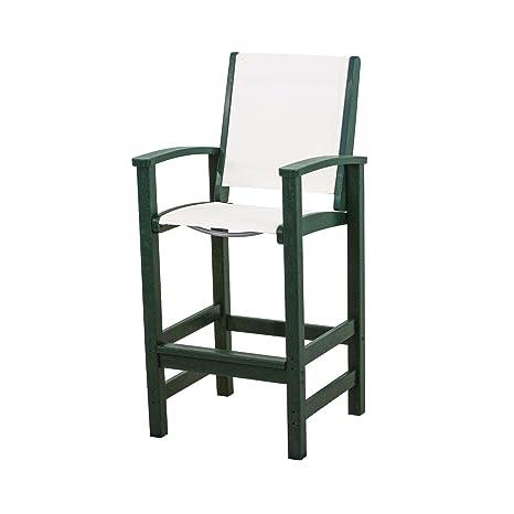 Coastal Bar Chair Finish: Green