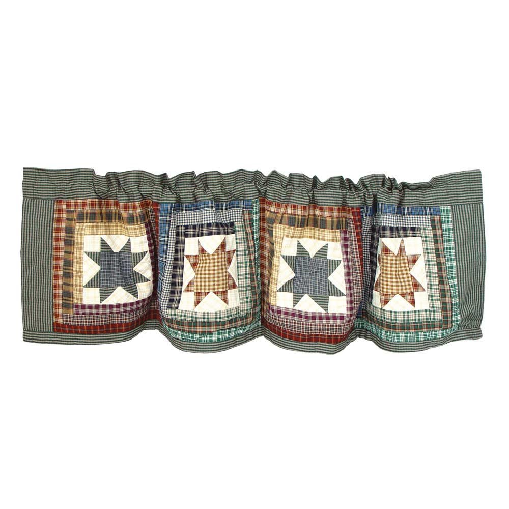 Patch Magic Cottage Star Rustic Valance Window Treatments from Amazon!